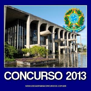 Concurso do Ministério da Justiça 2013